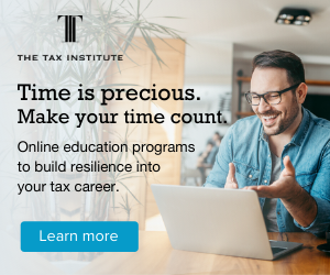 Find out more about our online tax education programs.