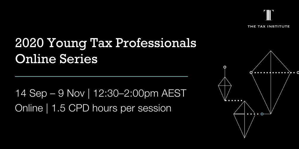 2020 young tax professionals webinar event