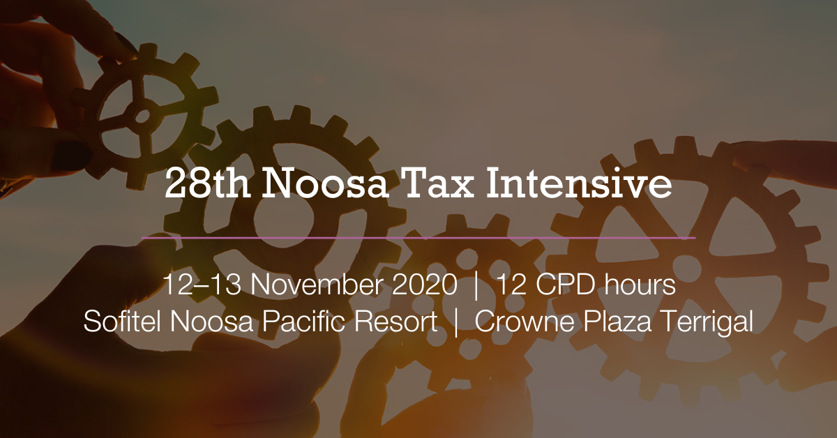 Noosa Tax Intensive Event