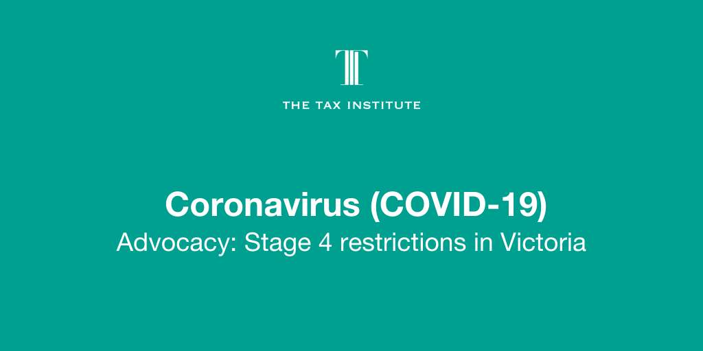 Advocacy On Victorian Stage 4 Covid 19 Lockdown Restrictions